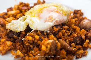 Migas con huevo frito